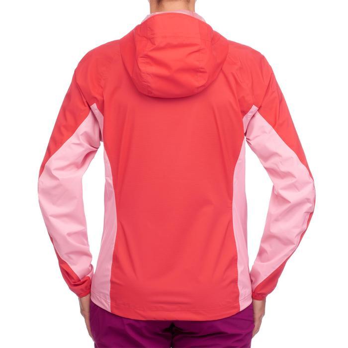 Veste imperméable de randonnée rapide Femme FH500 Helium Rain Rouge - 1285872