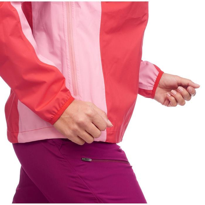Veste imperméable de randonnée rapide Femme FH500 Helium Rain Rouge - 1285874