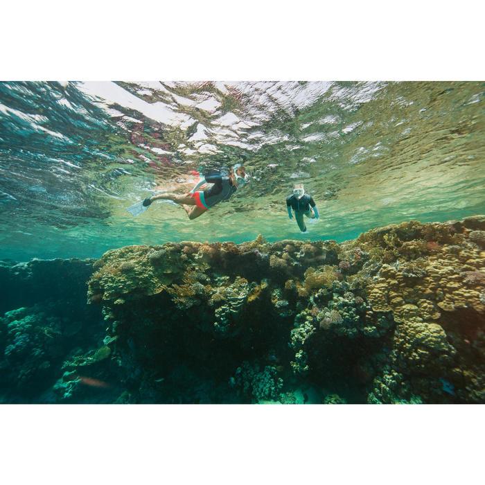 Palmes de snorkeling ou de plongée bouteille SNK 540 adulte turquoises rouges - 1285879