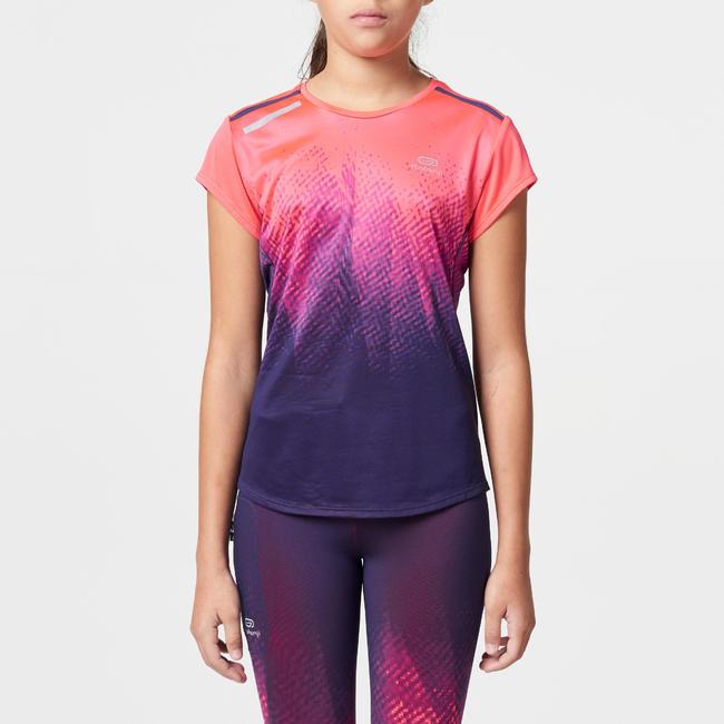RUN DRY+ print children's athletics T-Shirt - pink/purple