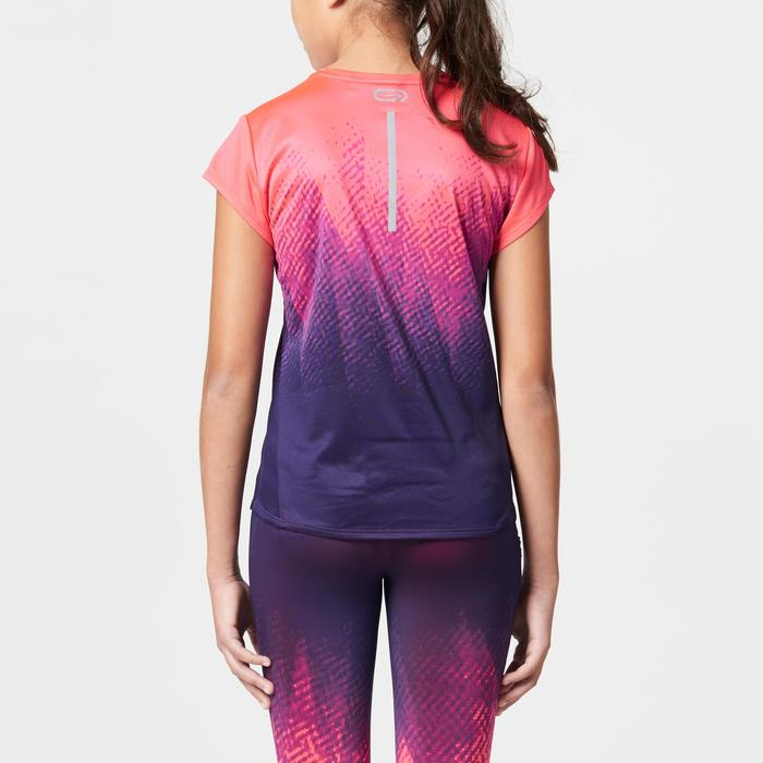 Laufshirt kurzarm Run Dry+ Kinder Print rosa/violett