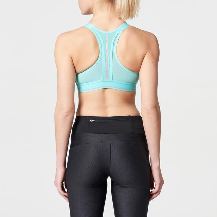 Sporttopje Comfort voor hardlopen turquoise camouflage