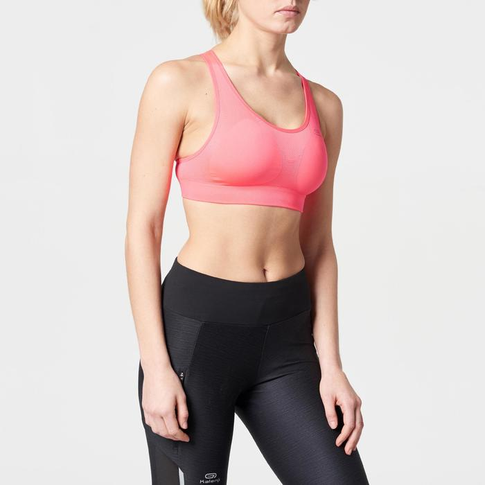 Top Sujetador Deportivo Running Kalenji Mujer Rosa Coral/Coral Pastel