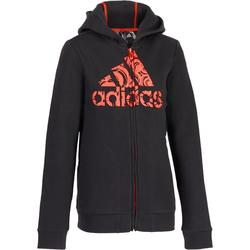 Veste gym fille noire orange