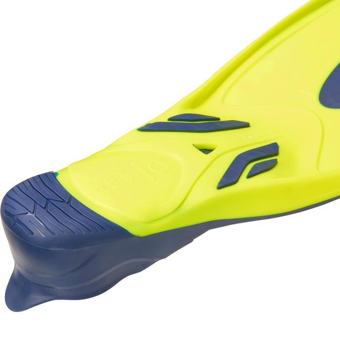 Aletas de buceo con botella SCD 500 azul / amarillo flúor