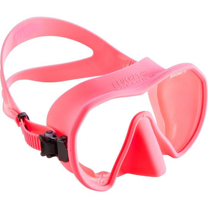 Masque de plongée et d'apnée Maxlux S rose - 1286235