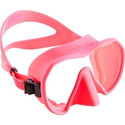 Tauchmaske Gerätetauchen und Apnoetauchen Maxlux S rosa