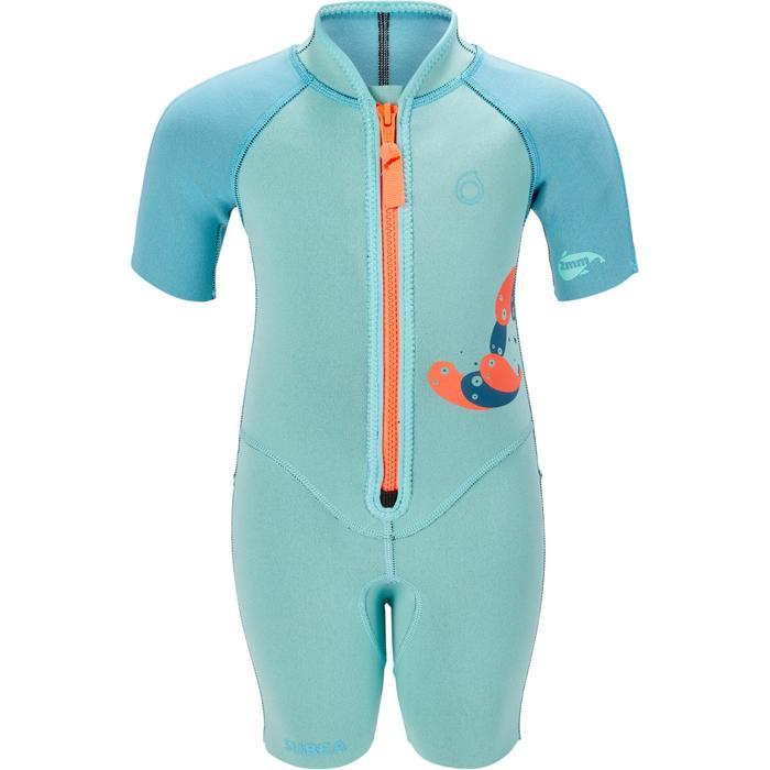 Shorty de snorkel 1,5 mm niños 100 kid azul turquesa