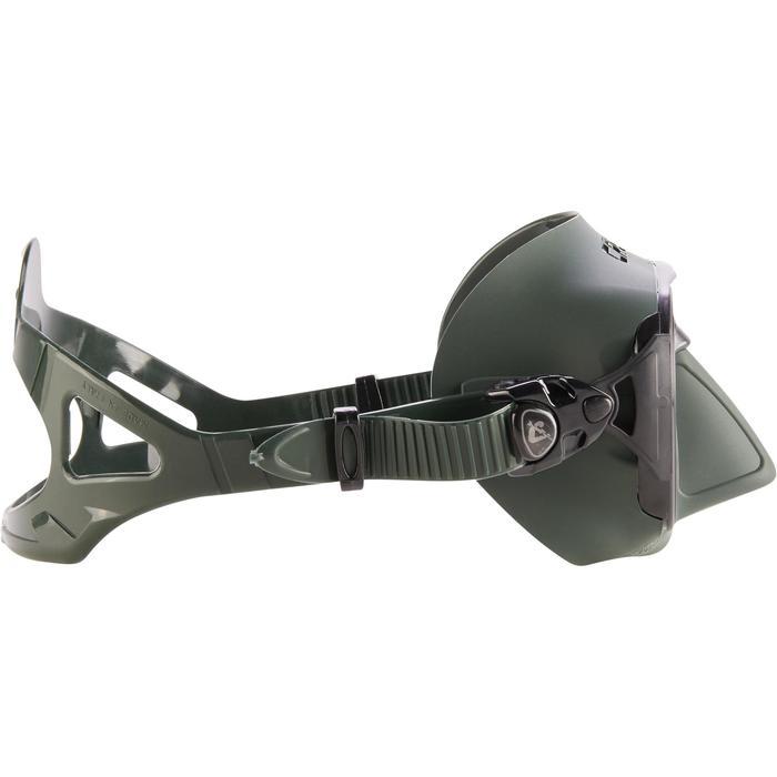 Duikbril Calibro voor harpoenvissen en vrijduiken groen