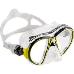 Máscara Snorkel Buceo Cressi Air Crystal Amarillo Negro