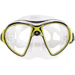 Duikbril voor diepzeeduiken Air Crystal geel