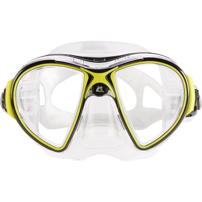 Masque de plongée sous-marine Air Crystal jaune - 1286256