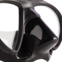 Masque de chasse sous-marine en apnée petit volume SPF 500 noir