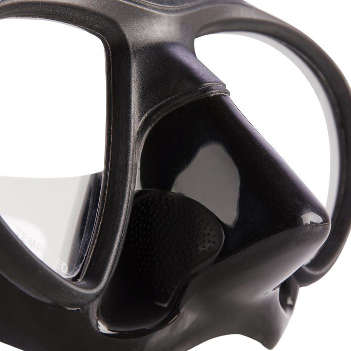Tauchmaske Apnoetauchen SPF 500 kleines Volumen schwarz