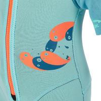 Short de plongée avec tuba 1,5 mm 100 bleu turquoise - Enfants