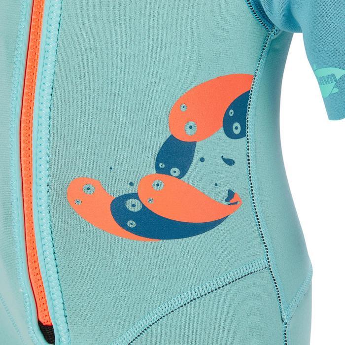 兒童款1.5mm短版浮潛衣100-淺碧藍色