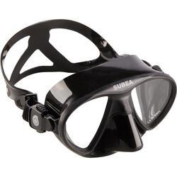 Compacte duikbril SPF 500 voor harpoenvissers die vrijduiken zwart