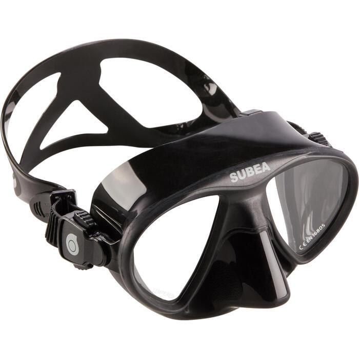 Masque de chasse sous-marine et apnée petit volume SPF 500 noir - 1286273
