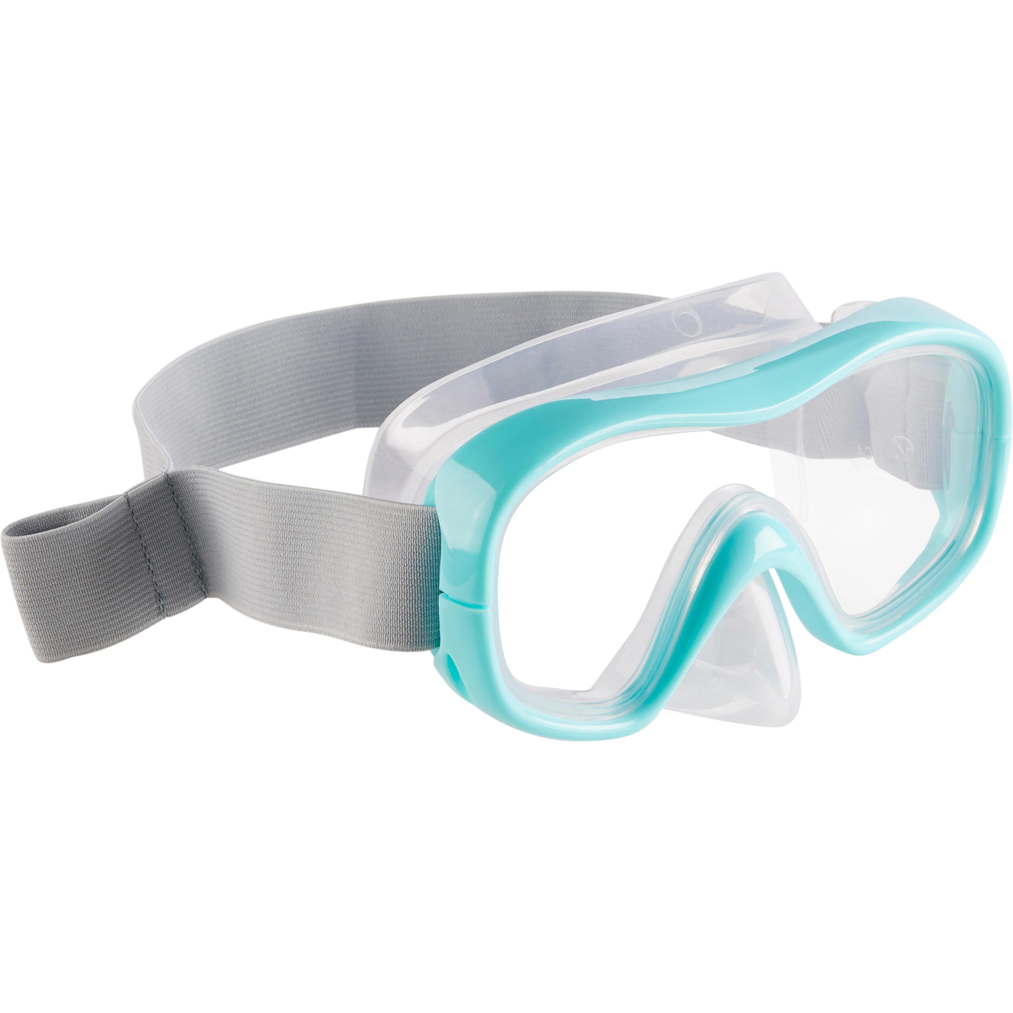 Máscara de snorkel SNK 500 niños azul turquesa
