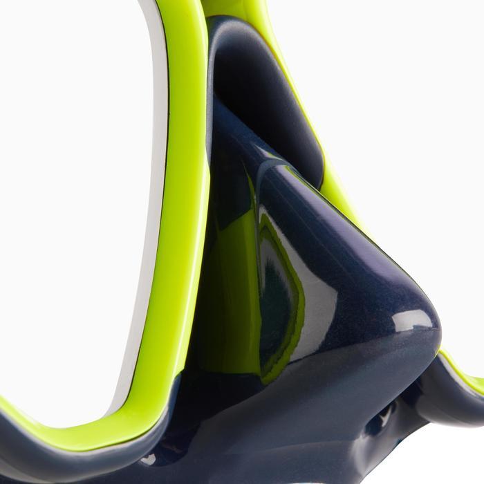 Tauchmaske Gerätetauchen SCD 500 Zweiglas Dichtrand blau Umrandung neon