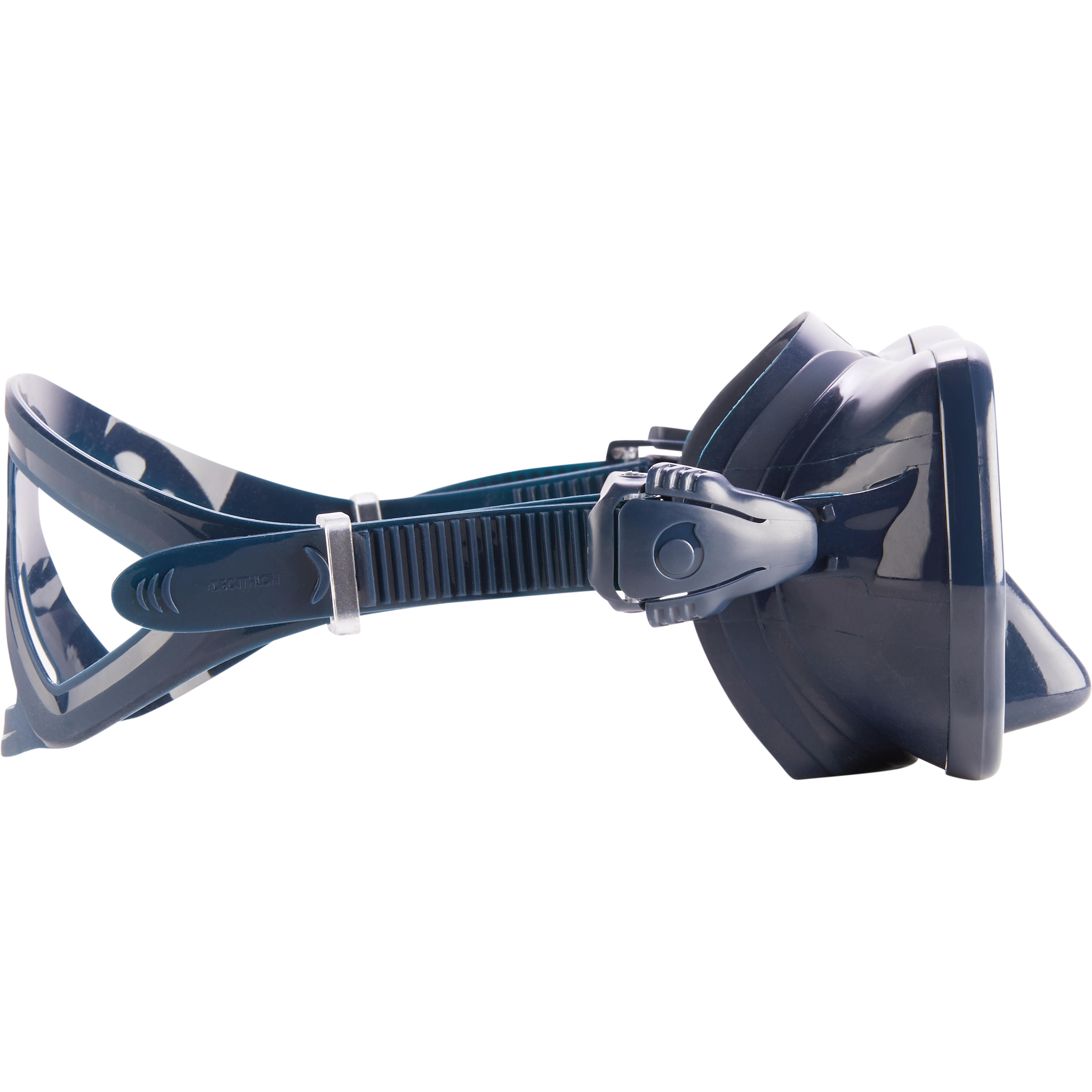 Diving mask SCD 500 double lens blue skirt and fluo strapping