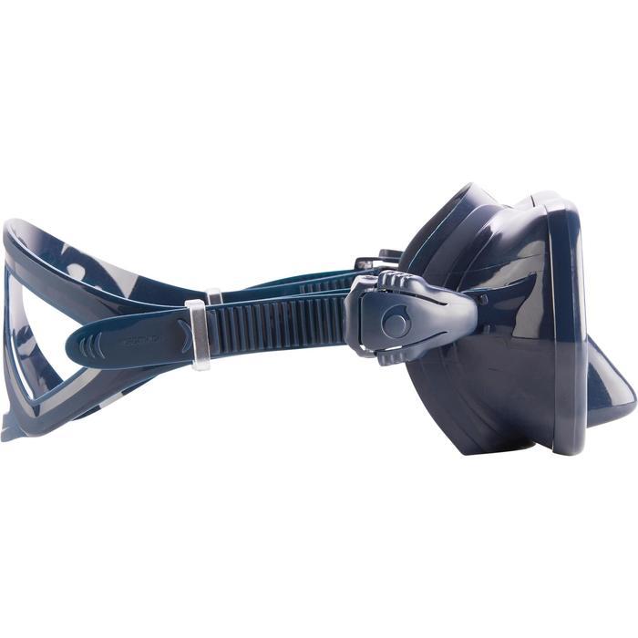 Masque de plongée sous-marine en bouteille SCD500 jupe bleue cerclage - 1286278