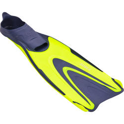 ADULT SCUBA DIVING FINS 500 - BLUE/FLUO YELLOW