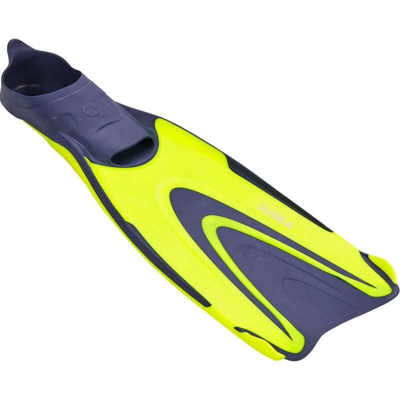 PLOUTVE NA POTÁPĚNÍ Potápění a šnorchlování - PLOUTVE SCD 500 ŽLUTÉ SUBEA - Potápění