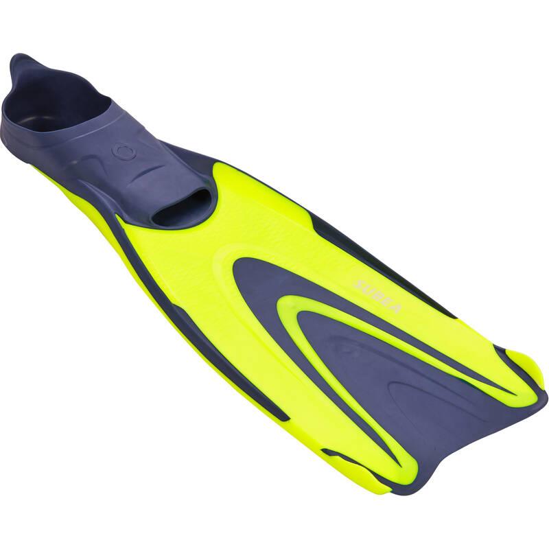 PLOUTVE NA POTÁPĚNÍ Potápění a šnorchlování - PLOUTVE SCD 500 ŽLUTÉ FLUO SUBEA - Potápění