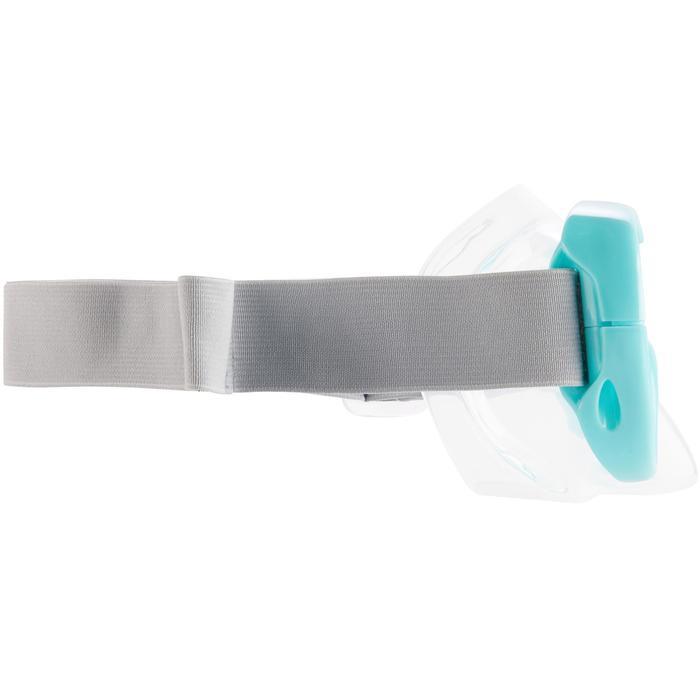 Masker voor vrijduiken FRD100 turquoise voor kinderen