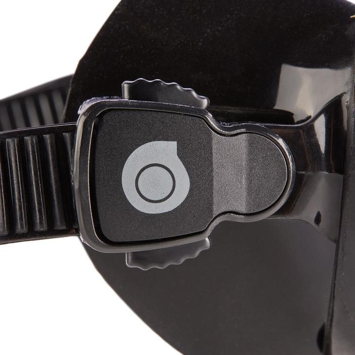 Compacte duikbril voor harpoenduiken en vrijduiken SPF 500 zwart