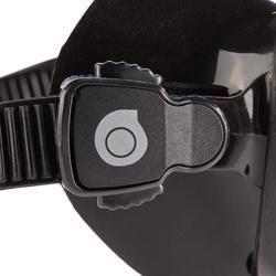 Compacte duikbril voor harpoenvissen en vrijduiken SPF 900 zwart