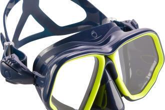 scd 500 diving mask blue fluo