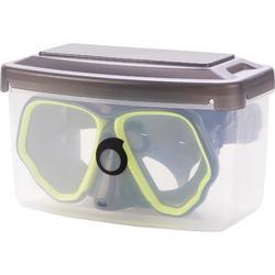 Duikbril met twee aparte glazen SCD 500 blauwe mantel en fluo rand