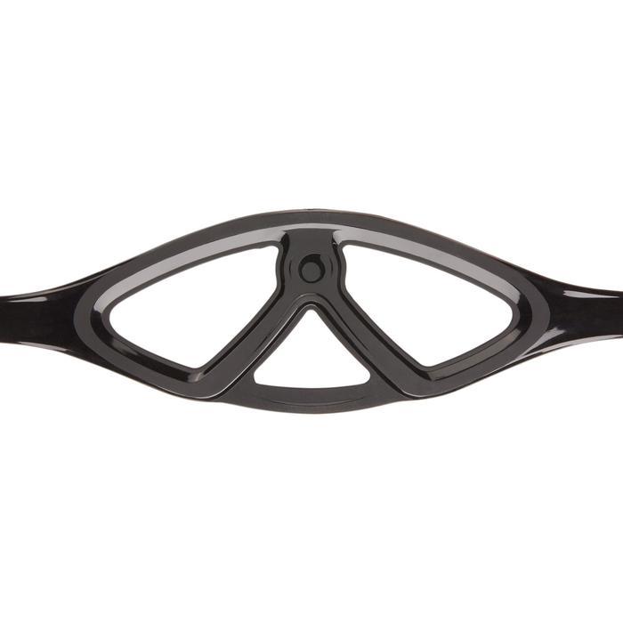 Compacte duikbril voor harpoenduikers die vrijduiken SPF 500 zwart