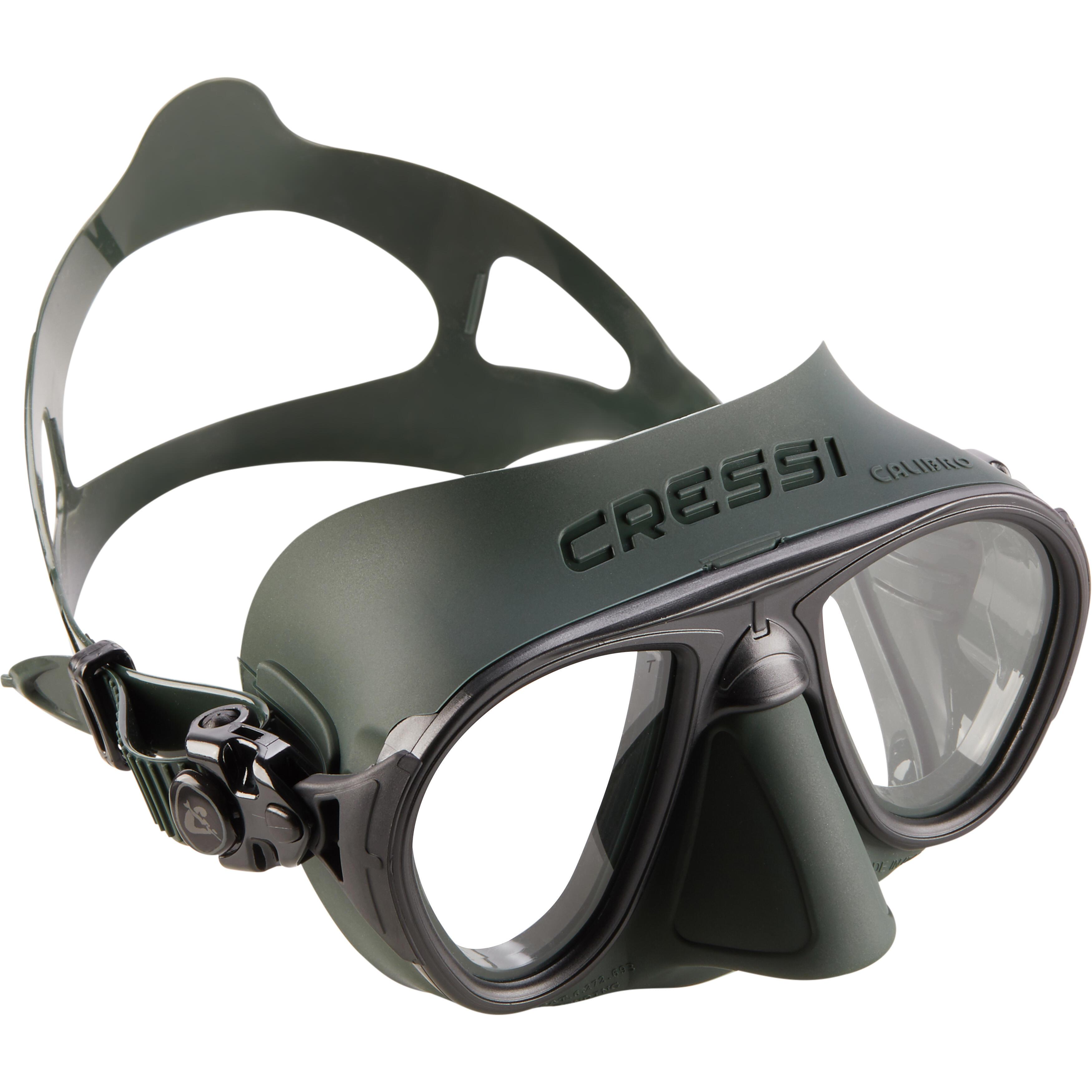 Cressi-sub Duikbril Calibro voor harpoenvissen en vrijduiken groen