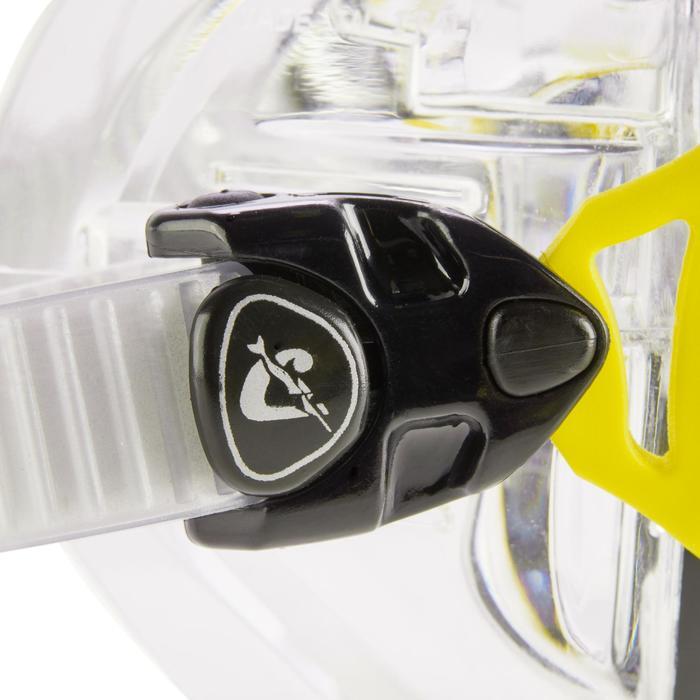 Masque de plongée sous-marine Air Crystal jaune - 1286304