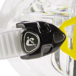 Masque de plongée sous-marine Air Crystal jaune
