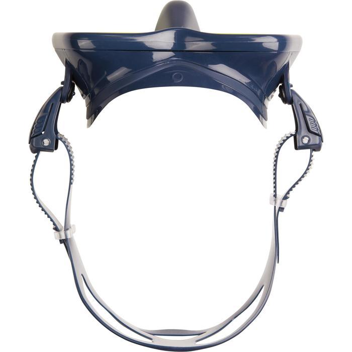 Masque de plongée sous-marine en bouteille SCD500 jupe bleue cerclage - 1286306
