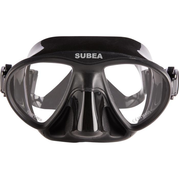 Masque de chasse sous-marine et apnée petit volume SPF 500 noir - 1286307