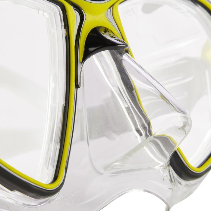 Masque de plongée sous-marine Air Crystal jaune - 1286311