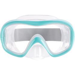 Máscara de buceo en apnea FRD100 turquesa para niños