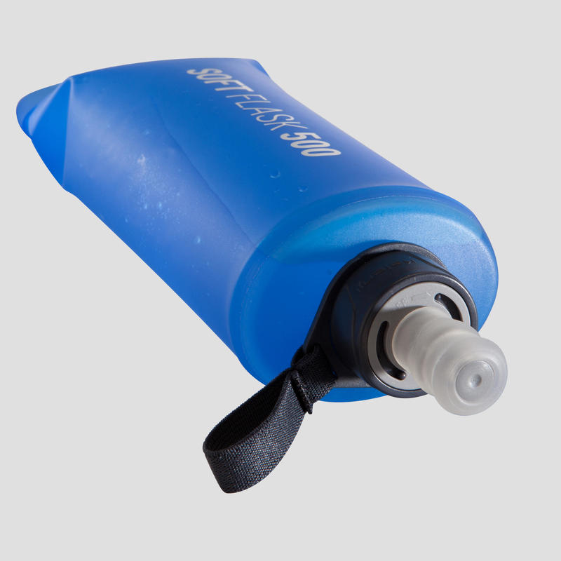 500 ML FLEXIBLE TRAIL RUNNING WATER BOTTLE - BLUE