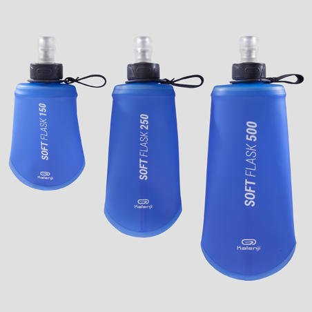 500 ML FLEXIBLE TRAIL RUNNING WATER BOTTLE - BLUE