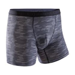 BOXER RUNNING HOMME RESPIRANT GRIS CAMOUFLAGE