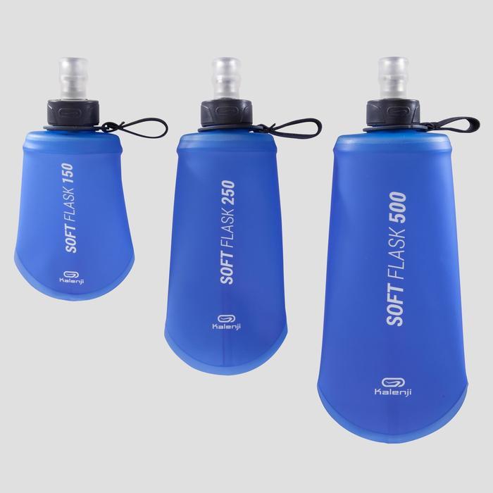 Soepele drinkfles hardlopen 150 ml blauw
