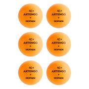 Oranžne namiznoteniške žoge 100* 40+ (6 žog)
