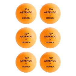 TTB 100 1* 4+ Table Tennis Balls 6-Pack - Orange