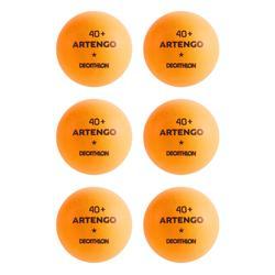 乒乓球TTB 100* 40 + 6入 橙色