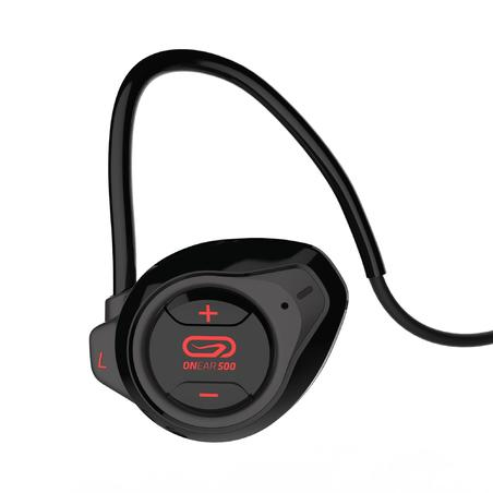 Audífonos Inalámbricos Bluetooth Running Kalenji Onear 500 Negro/Rojo